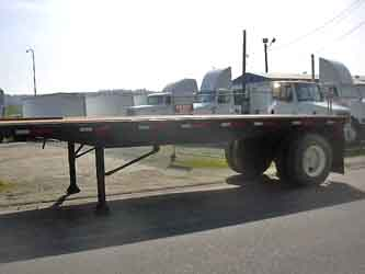 1988 Toughboy 24 Foot Flatbed Trailer